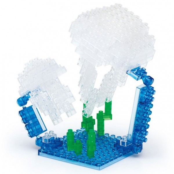 Moon Jellyfish (Quallen) (Nanoblock NBC-087)