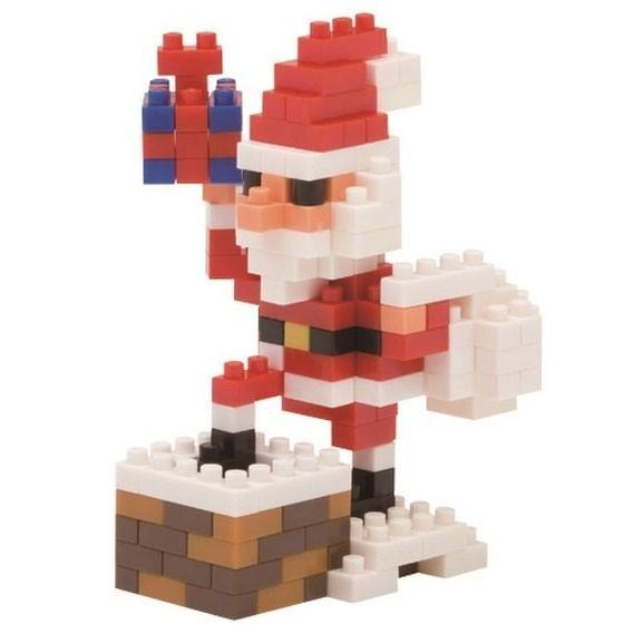 Santa Claus auf dem Kamin (Nanoblock NBC-127)