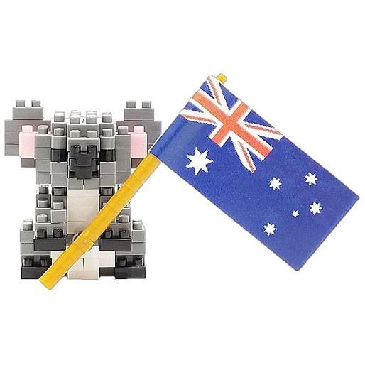 Koala with Flag (Nanoblock NBC-296)