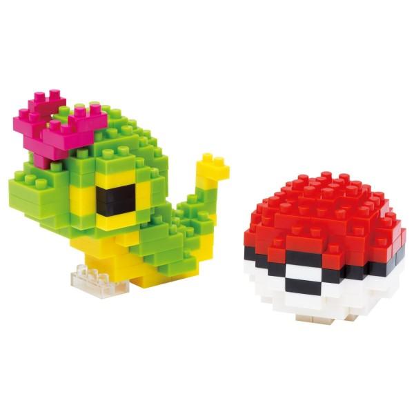 Pokémon Caterpie & Poké Ball / Chenipan / Raupy (Nanoblock NBPM-010)