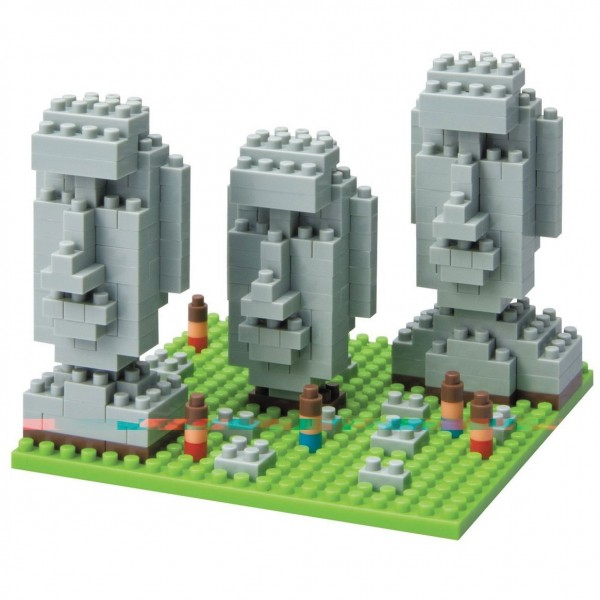 Moai Statues on Easter Island (Nanoblock NBH-009)