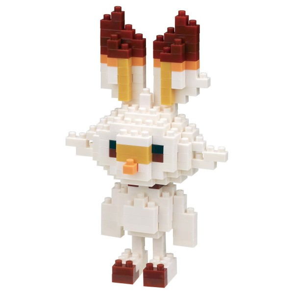 Pokémon Scorbunny / Flambino / Hopplo (Nanoblock NBPM-060)