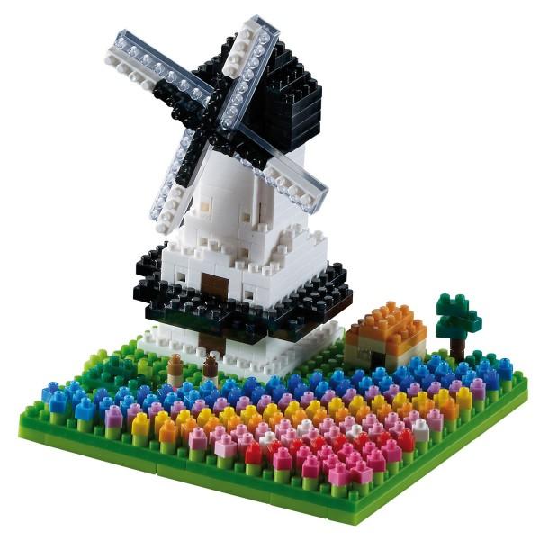 Windmühle mit Tulpen (200.144)