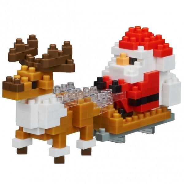Santa Claus mit Rentier (Nanoblock NBC-234)